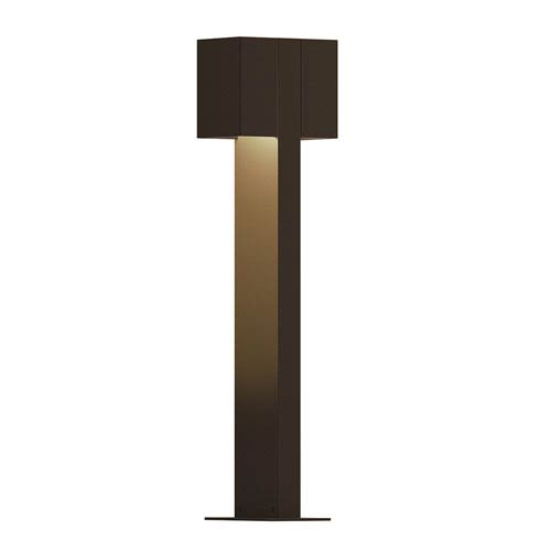 Inside-Out Box Textured Bronze 22-Inch LED Double Bollard