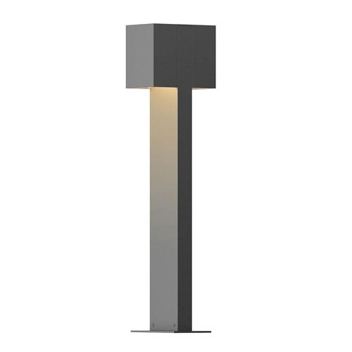 Inside-Out Box Textured Gray 22-Inch LED Double Bollard