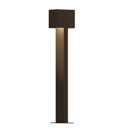 Inside-Out Box Textured Bronze 28-Inch LED Double Bollard