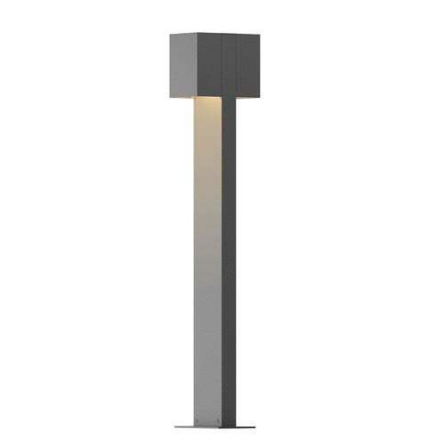 Inside-Out Box Textured Gray 28-Inch LED Double Bollard