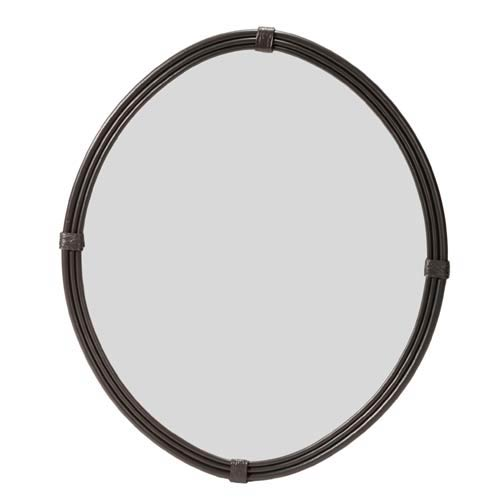 Queensbury Small Natural Black Wall Mirror