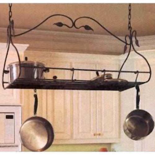 Gourmet Natural Black Pot Rack