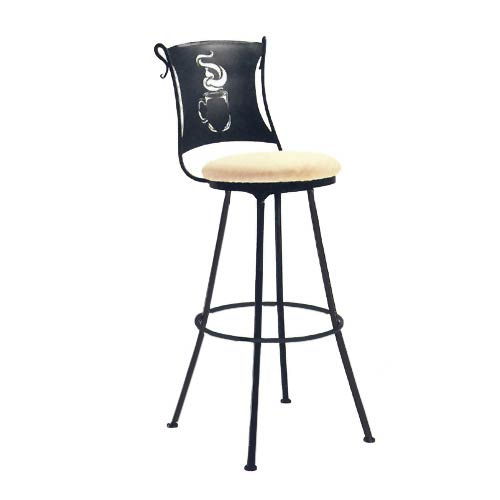 Coffee Cup Natural Black Barstool