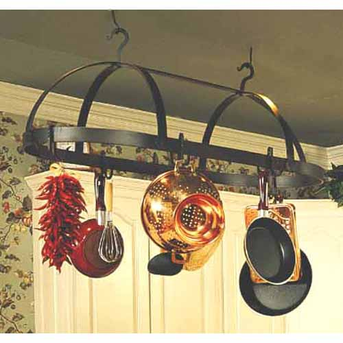 Oval Dutch Large Natural Black Pot Rack