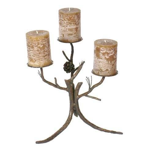 Pine Natural Pine Bark Candleholder