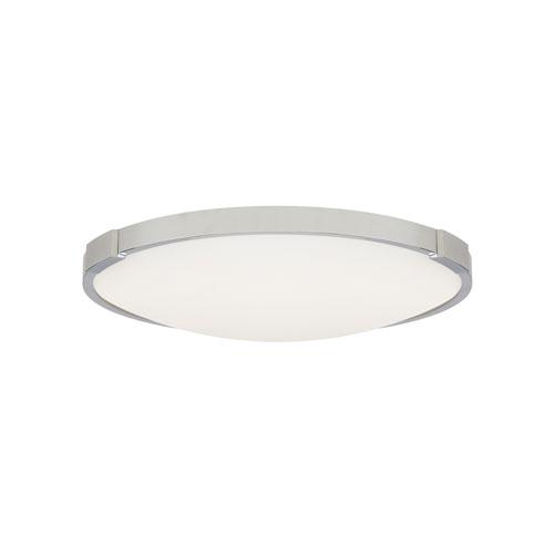 Lance Chrome 13-Inch 2700 Kelvin LED ADA Flush Mount