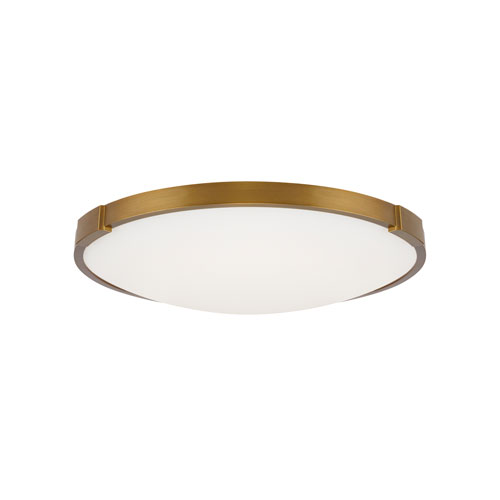 Lance Aged Brass 24-Inch 2700 Kelvin LED Flush Mount