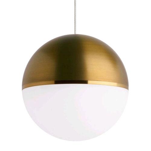 Akova Aged Brass LED Globe Mini Pendant