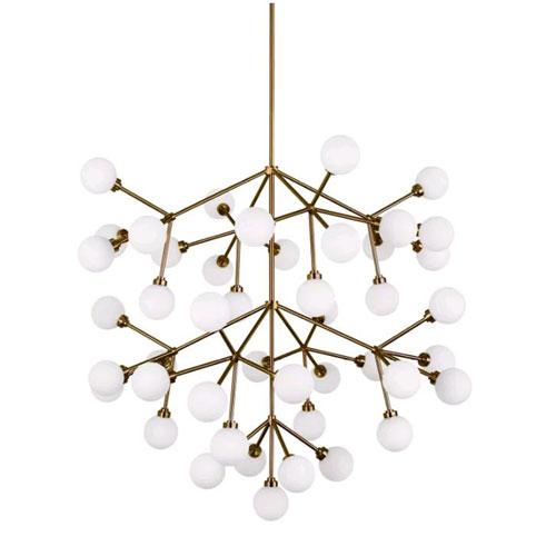 Mara Grande Aged Brass Forty Five-Light LED Chandelier