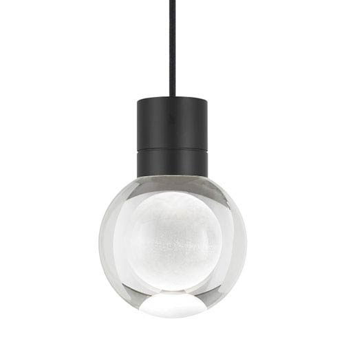 Mina Black 2200 Kelvin LED Line-Voltage Mini-Pendant with Black Cord