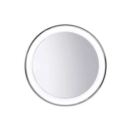 Tech Lighting Tigris Satin Nickel Nine-Light Recessed Round Vanity Mirror