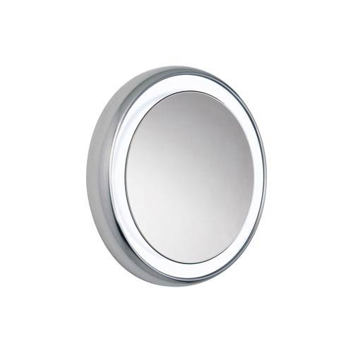 Tigris Chrome Six-Light 120V Fluorescent Surface Mounted Round Vanity Mirror