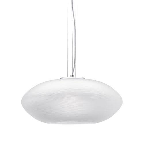 Circulet Grande White and Satin Nickel LED Line-Voltage Pendant