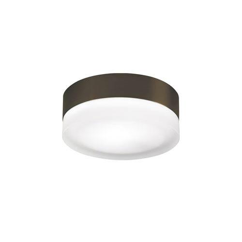 Tech Lighting 360 Antique Bronze One-Light 120V Fluorescent Flush Mount with Round Glass Shade