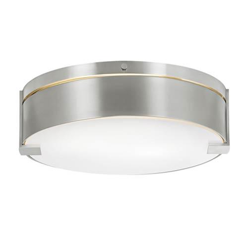 Tech Lighting Baxter Satin Nickel One-Light Flush Mount with Metal Shade