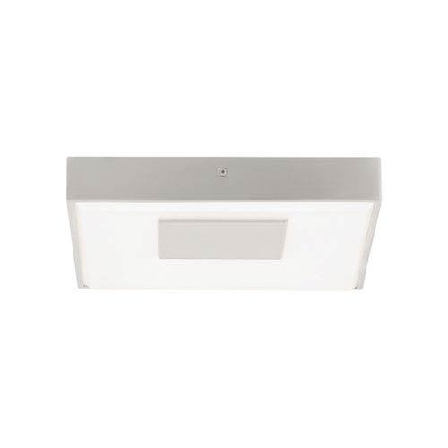 Wynter Square  Satin Nickel One-Light LED Medium Flushmount with Satin Nickel Stem