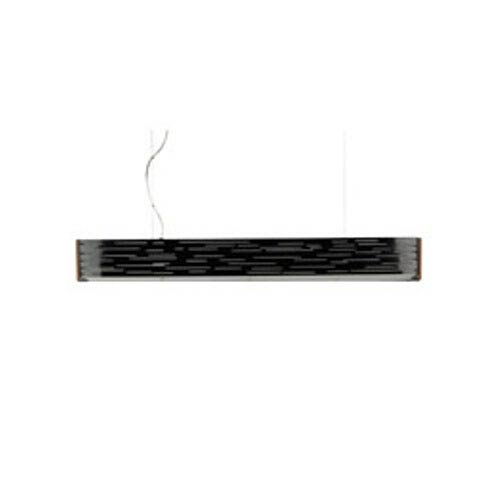 Tech Lighting Revel Gloss Black Two-Light Fluorescent Linear Suspension Pendant with Maple Wood Trim
