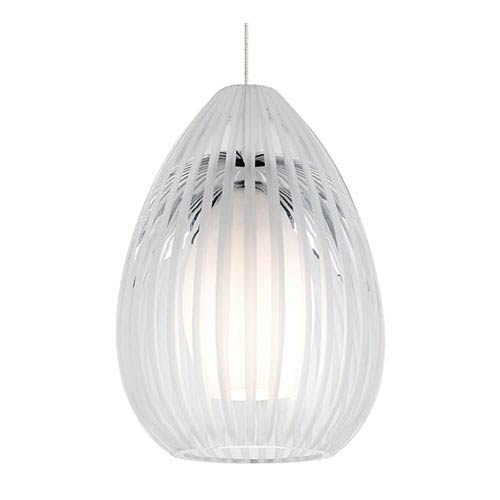 Tech Lighting Ava Chrome One-Light Halogen Mini Pendant with Clear Glass