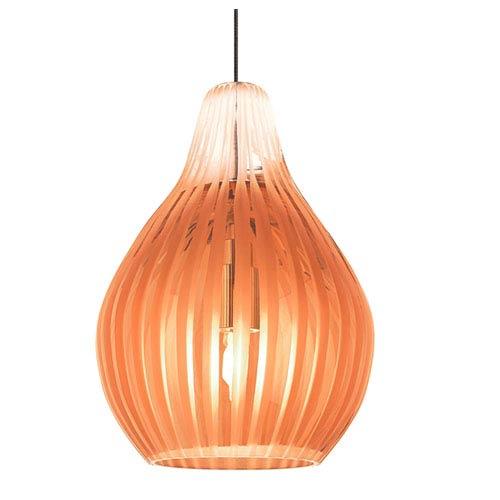 Avery Satin Nickel One-Light Xenon Mini Pendant with Orange Glass