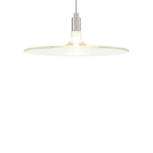 Biz Satin Nickel One-Light Mini Pendant with Clear Shade and Satin Nickel Stem