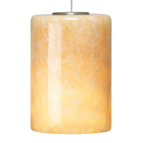 Tech Lighting Cabo Satin Nickel and Onyx Glass One-Light Low-Voltage Mini-Pendant