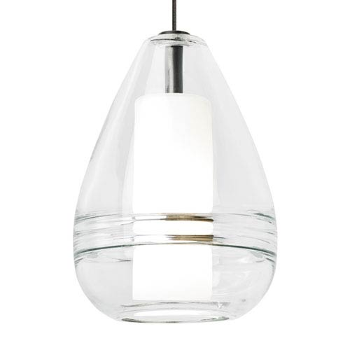 Mini Ella Satin Nickel and Clear Glass One-Light Low-Voltage Mini-Pendant
