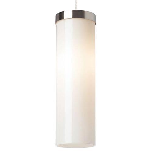 Tech Lighting Hudson Chrome One-Light LED Mini Pendant with White Shade and Chrome Stem