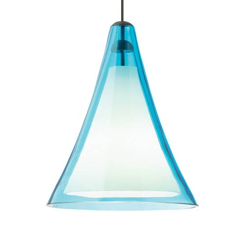 Mini Melrose II Aqua Glass One-Light Low-Voltage Mini-Pendant