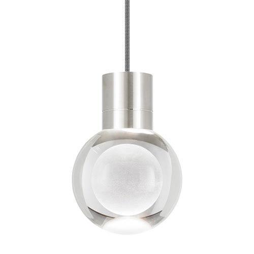 Tech Lighting Mina Satin Nickel 2200 Kelvin LED Line-Voltage Mini-Pendant with Black and White Cord