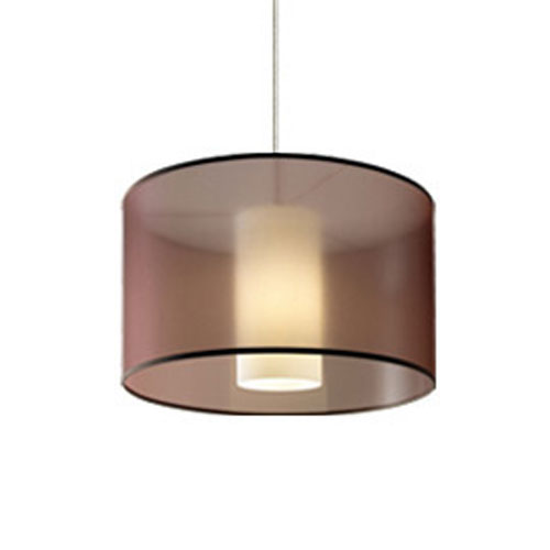 Dillon Brown One-Light Fluorescent Pendant with Antique Bronze Canopy