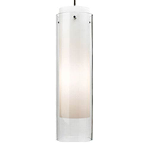 Echo Grande Clear One-Light Mini Pendant with White Canopy