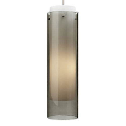 Echo Grande Smoke One-Light Mini Pendant with White Canopy