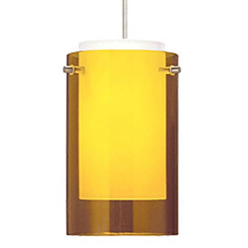 Echo Amber One-Light Mini Pendant with White Canopy