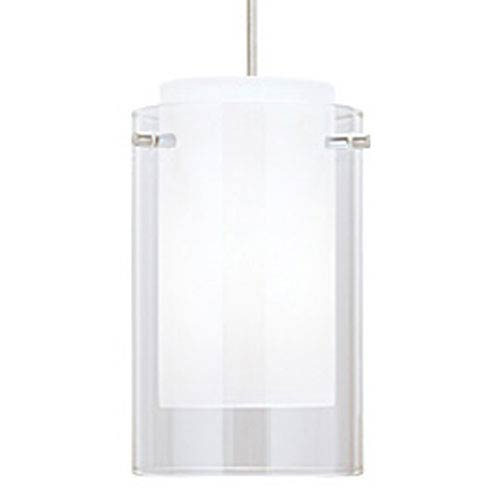 Echo Clear One-Light Mini Pendant with White Canopy