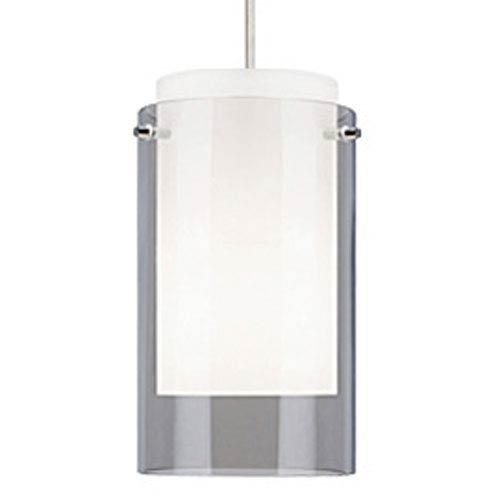 Tech Lighting Echo Smoke One-Light Fluorescent Mini Pendant with White Canopy