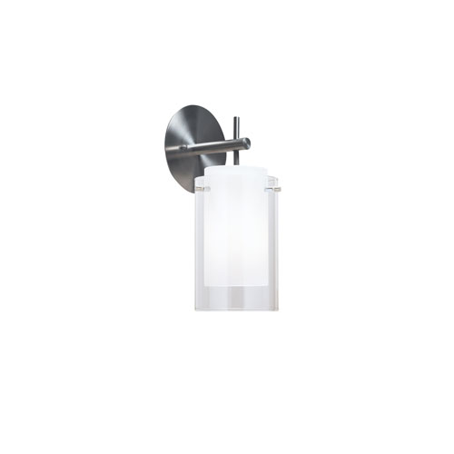 Tech Lighting Echo Clear One-Light Wall Sconce with Round Satin Nickel Base
