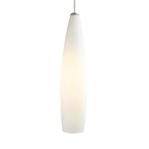 Fino White One-Light 277V Fluorescent 22-Inch Mini Pendant with White Canopy