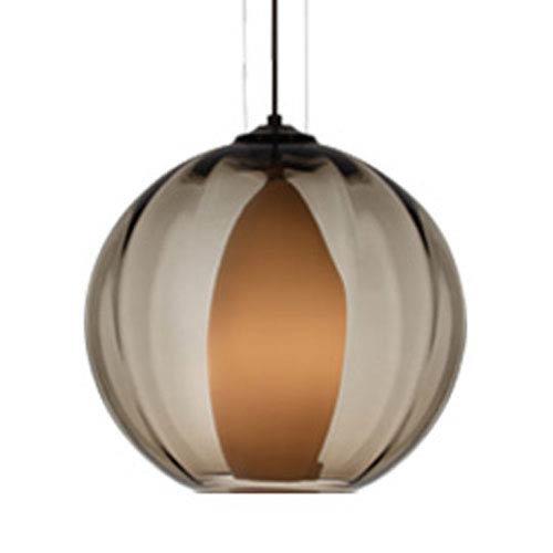 Tech Lighting Inner World Smoke One-Light Pendant with Antique Bronze Canopy