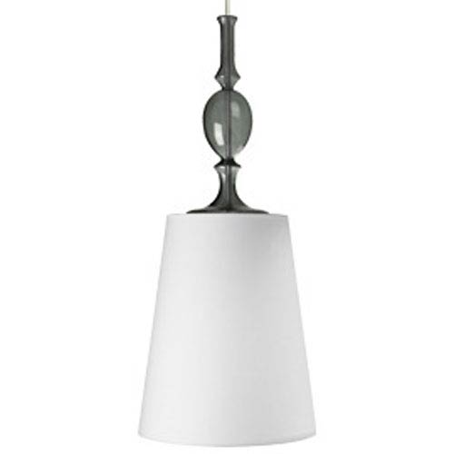 Tech Lighting Kiev White Shade One-Light 277V Fluorescent Pendant with Satin Nickel Canopy