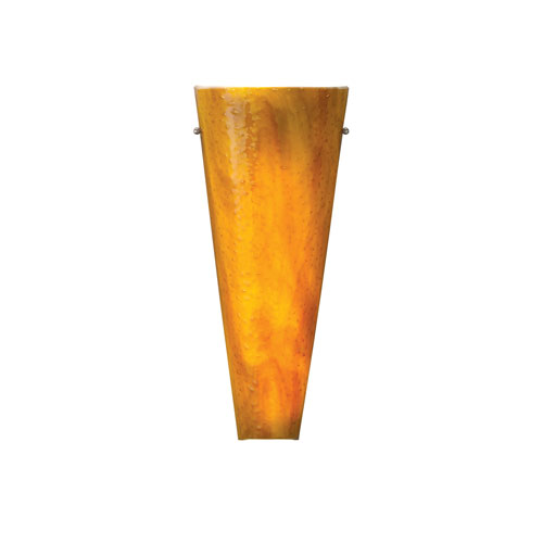 Tech Lighting Larkspur Beach Amber One-Light Wall Sconce with Satin Nickel Hardware
