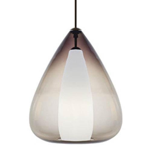 Soleil Grande Smoke One-Light Pendant with Antique Bronze Canopy