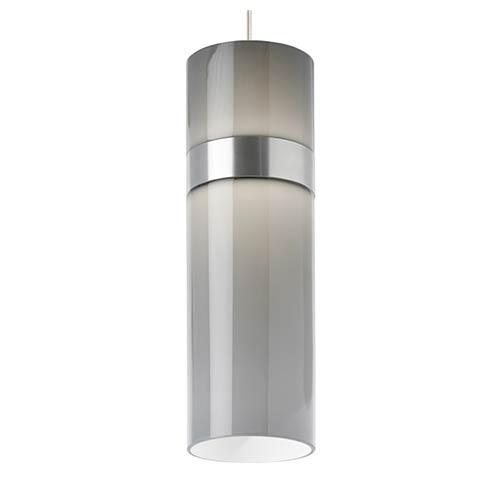 Tech Lighting Manette Satin Nickel LED Grande Mini Pendant with Smoke Glass