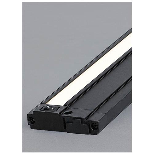 Unilume Black 30-Inch Length 3000K LED Slimline Under Cabinet Light