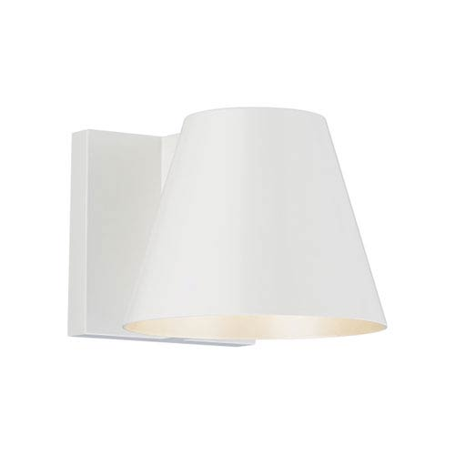 Bowman 6 White One-Light LED Wall Sconce with White Stem