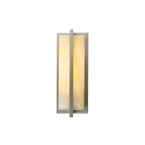 Tech Lighting Coronado Honey Onyx One-Light Wall Sconce with Satin Nickel Frame