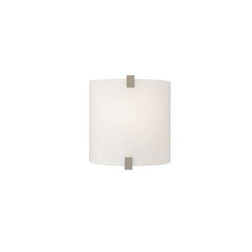 Tech Lighting Essex Surf White One-Light LED Wall Sconce with Satin Nickel Hardware