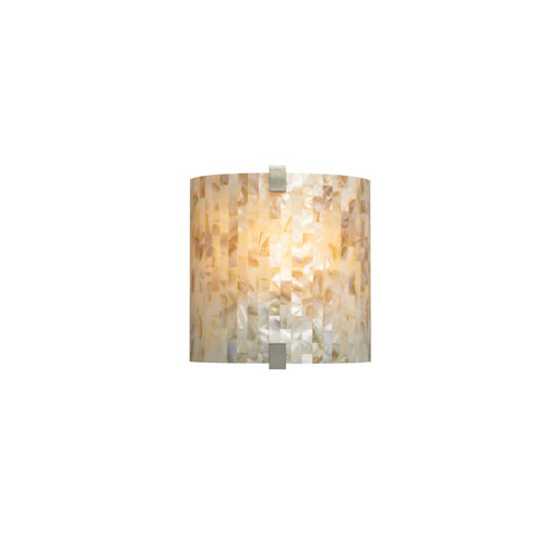 Tech Lighting Essex Natural Shell One-Light Wall Sconce with Satin Nickel Hardware