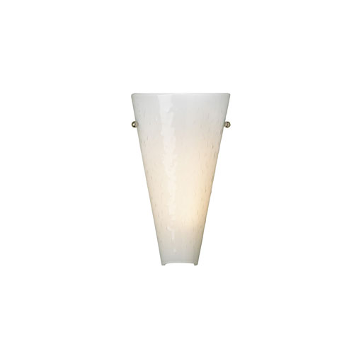 Tech Lighting Mini Larkspur Surf White One-Light Fluorescent Wall Sconce with Chrome Hardware