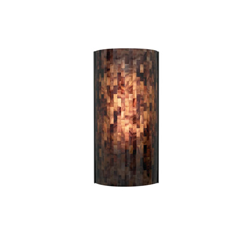 Tech Lighting Playa Brown One-Light Fluorescent Wall Sconce with Antique Bronze Base