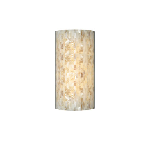 Playa Natural One-Light Fluorescent Wall Sconce with Satin Nickel Base